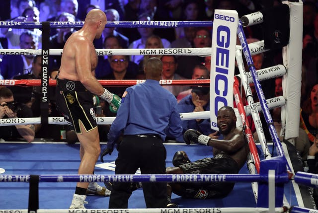 Fury knocked Wilder down for the first time in the third round (