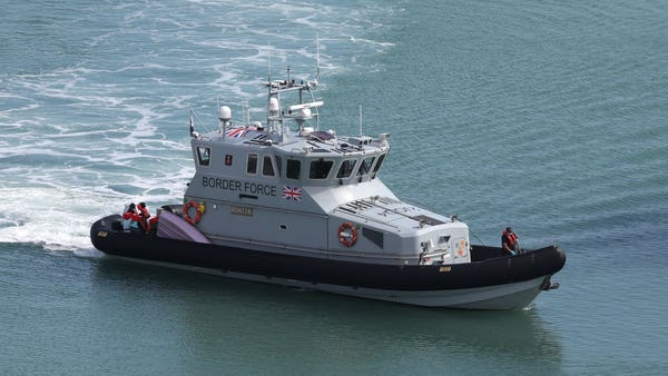 Border Force patrols Channel for migrant boats as choppy seas ease