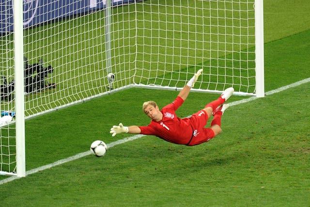 England goalkeeper Joe Hart at Euro 2012