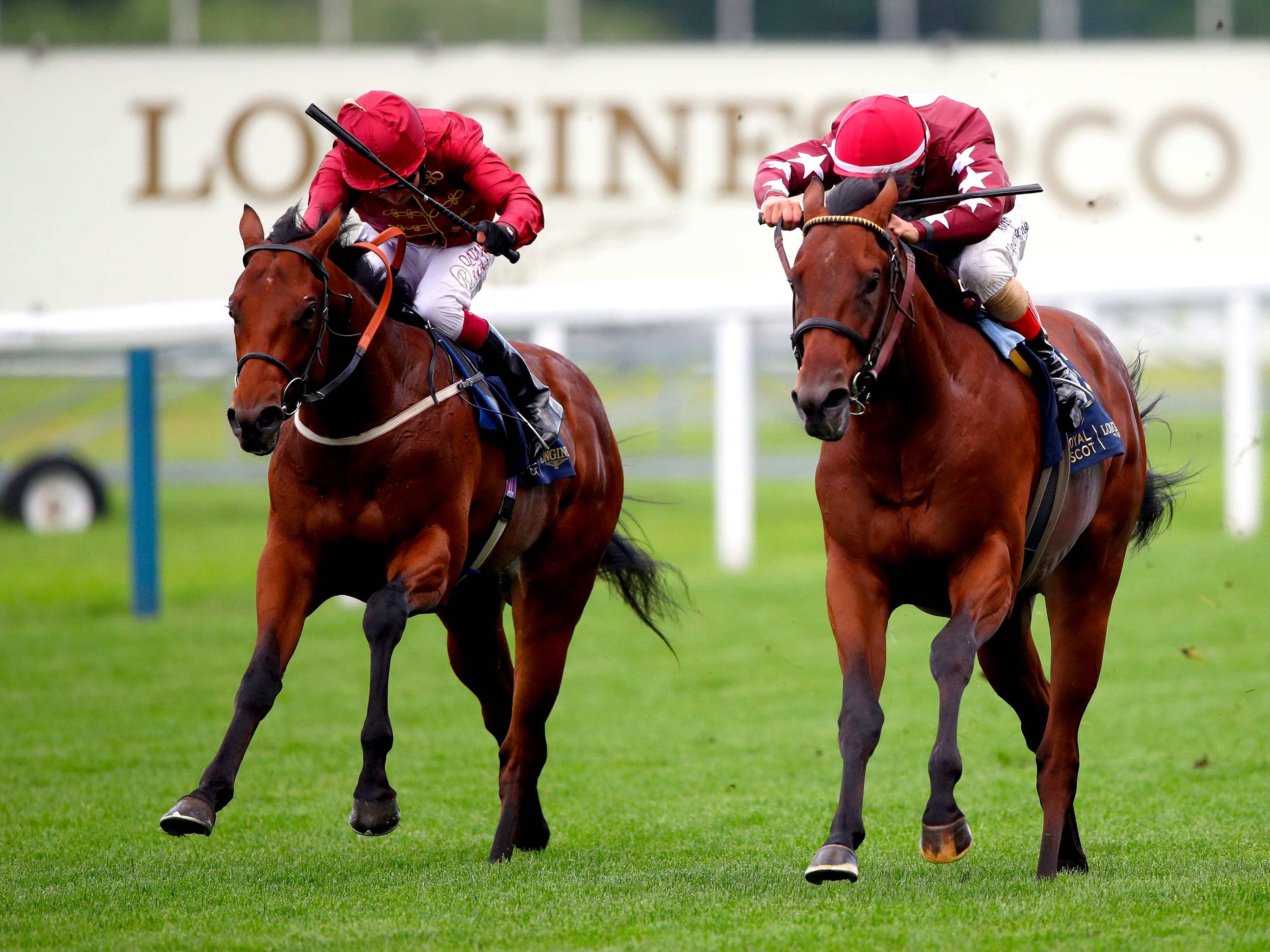 The Lir Jet (left) on his way to victory at Royal Ascot (Julian Finney/PA)