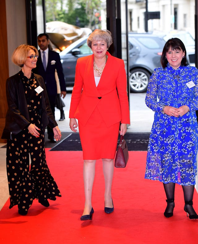 Theresa May attending The Women of the Year awards
