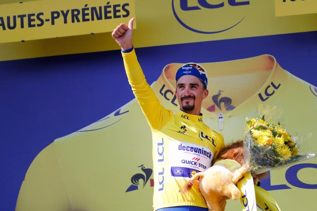 France's Julian Alaphilippe retained the yellow jersey