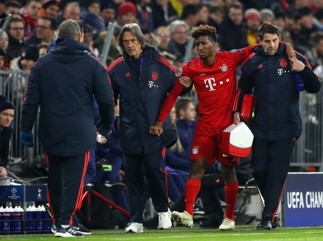 Kingsley Coman's injury took the edge off Bayern's victory