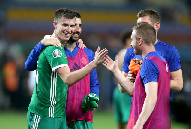 Paddy McNair (left) believes Holland will be a good barometer for Northern Ireland