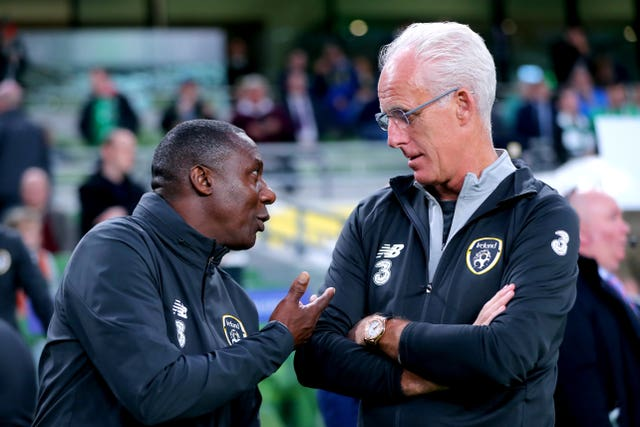 Mick McCarthy (right) and Terry Connor have teamed up again