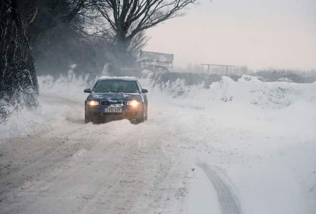 Okehampton in Devon was one of the areas hit by the blast of cold weather (Martin Keene/PA)