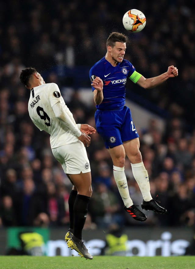 Haller clashed with Chelsea's Cesar Azpilicueta during last year's Europa League campaign