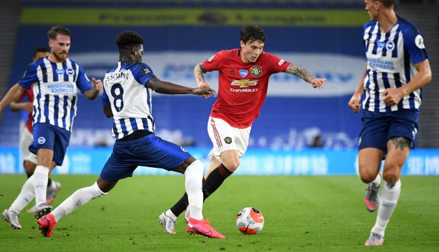 Victor Lindelof (right) was full of praise for Bruno Fernandes