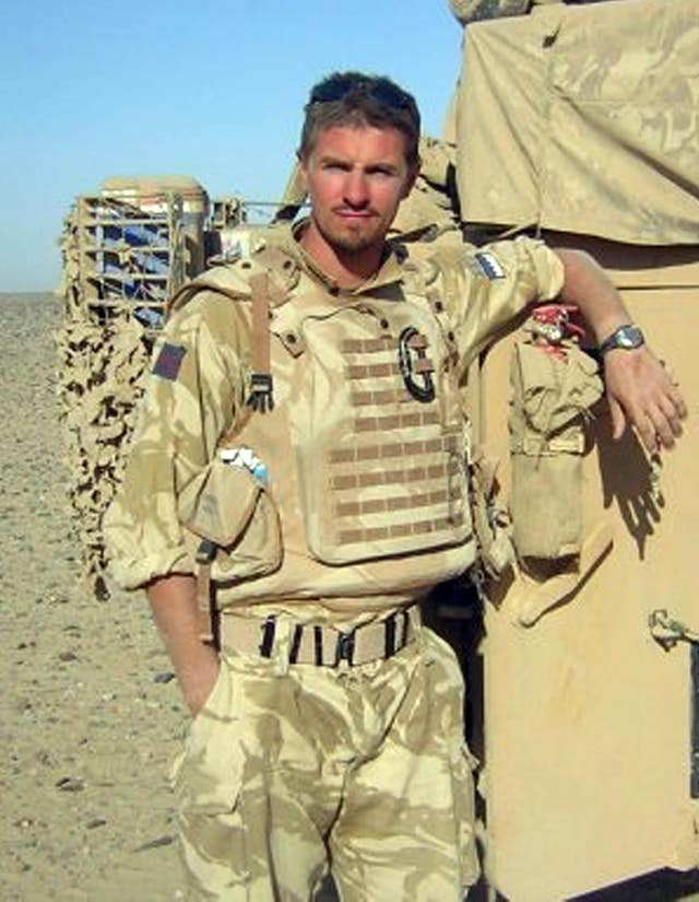 Army reservist Corporal James Dunsby died in hospital (PA)