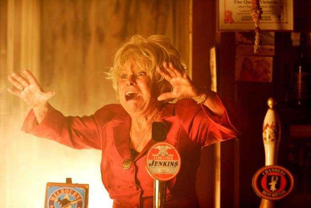 Peggy Mitchell during the Queen Vic fire