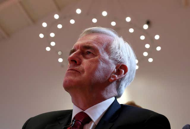 Shadow chancellor John McDonnell has said he wants a