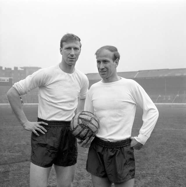 Jack (left) and Bobby Charlton are England greats