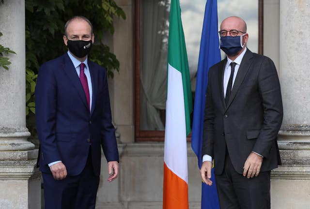 Micheal Martin and Charles Michel (Brian Lawless/PA)