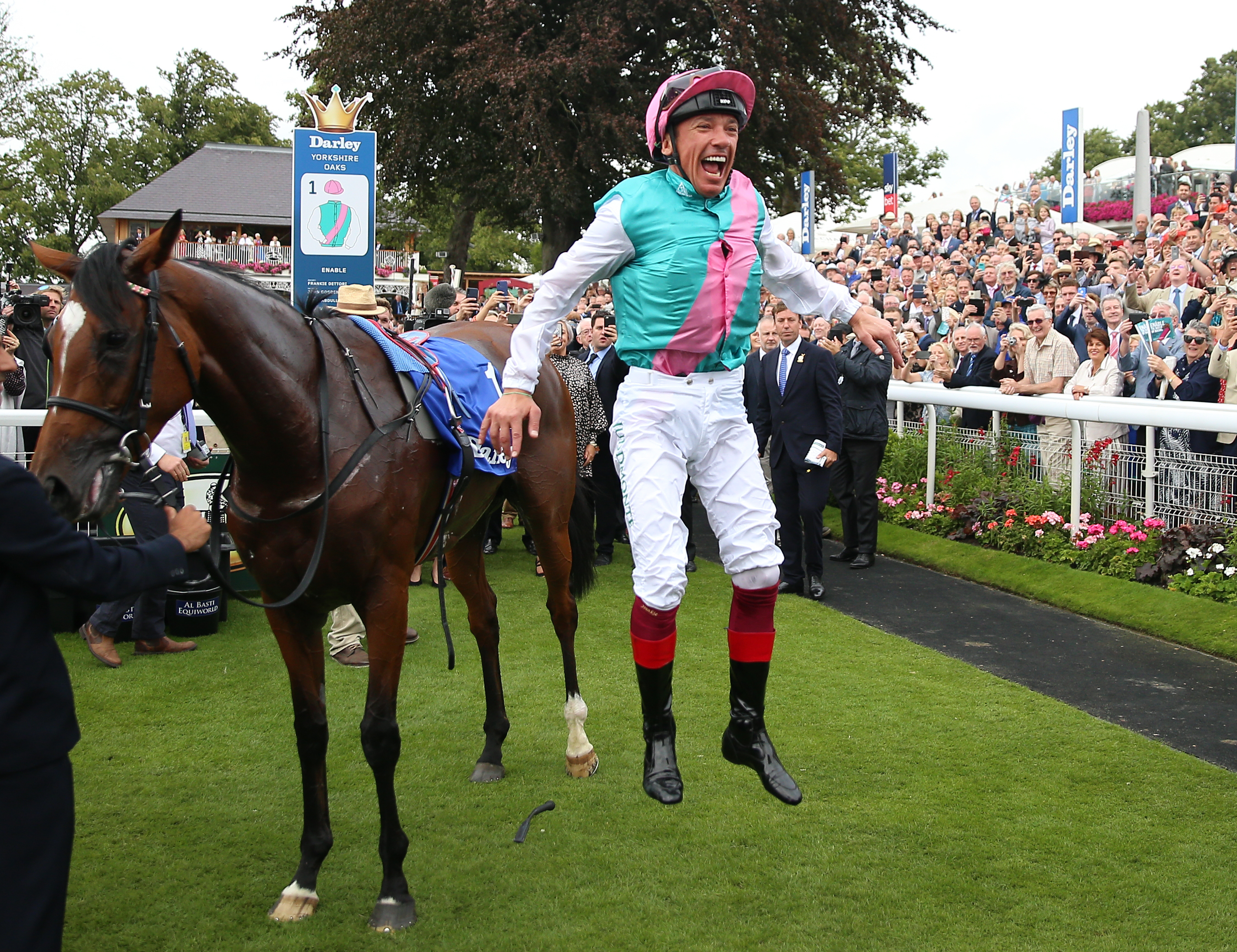 Frankie Dettori has always been jumping for joy where Enable is concerned