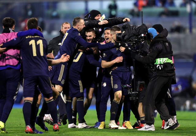 Dinamo Zagreb claimed a famous victory over Tottenham in the Europa League