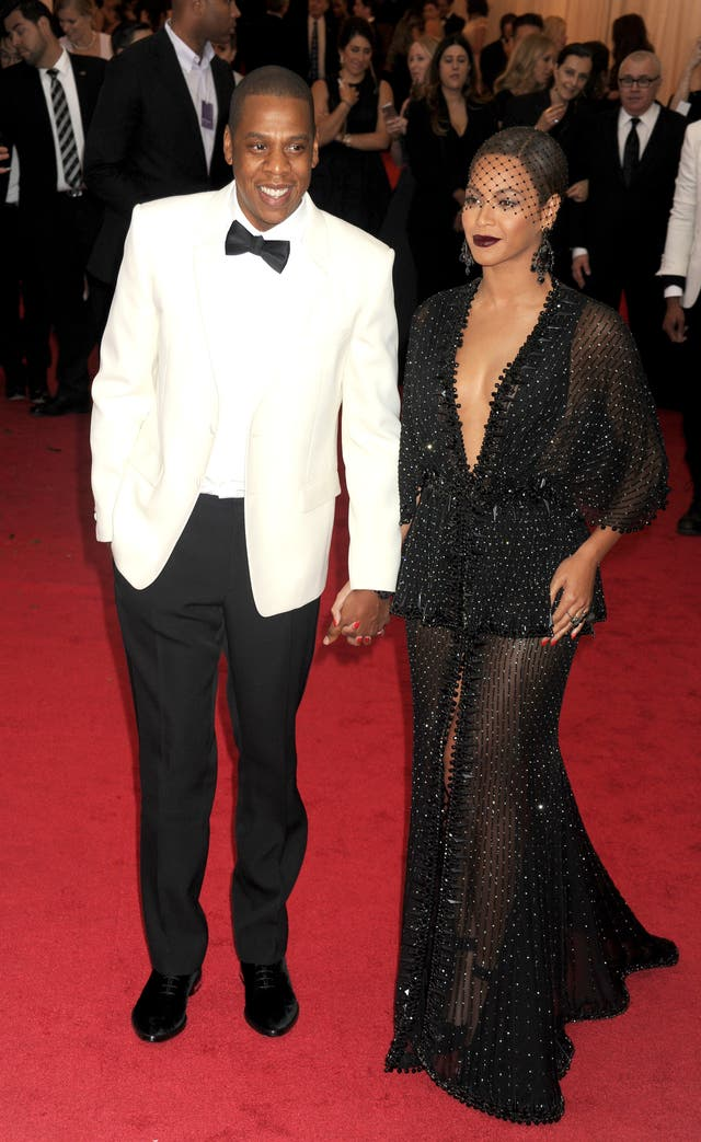 Jay Z and Beyonce on a red carpet