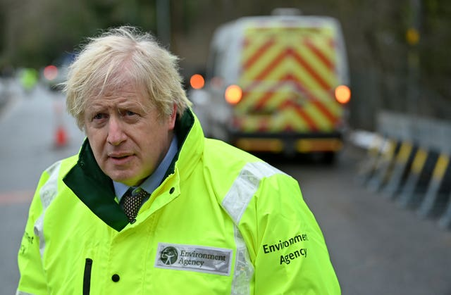 Prime Minister Boris Johnson said it was 'too early' to say when restrictions could be lifted