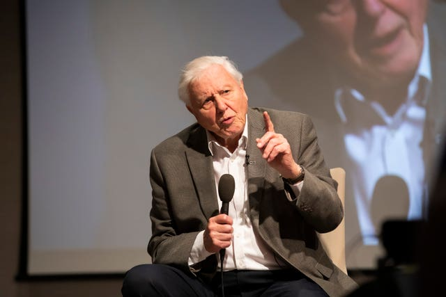 Sir David Attenborough will also be attending the event (Fabio De Paola/PA)