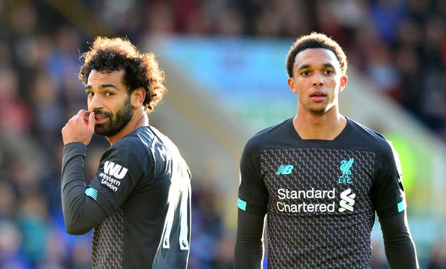 Mohamed Salah, left, and Trent Alexander-Arnold