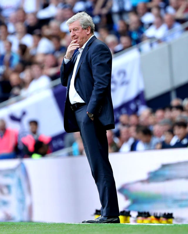 Roy Hodgson was unhappy with his side's first-half performance