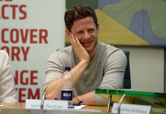 James Norton, the star of BBC drama McMafia, attends an event held by the anti-corruption NGO Global Witness (Kirsty O'Connor/PA)