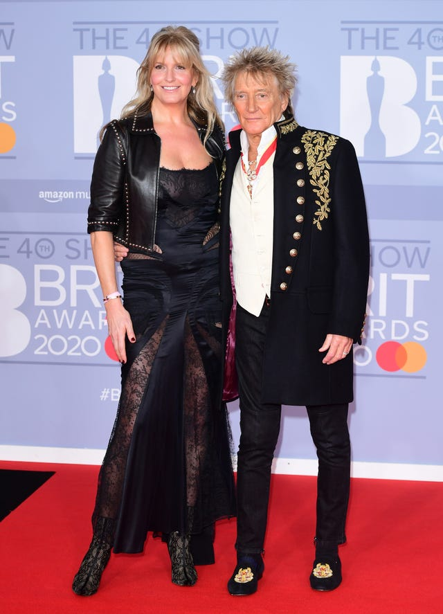 Sir Rod with his wife Penny Lancaster