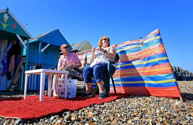 Alan and Daphne Smith in Herne Bay (Gareth Fuller/PA)