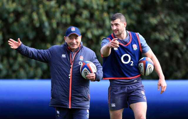 Eddie Jones and Jonny May