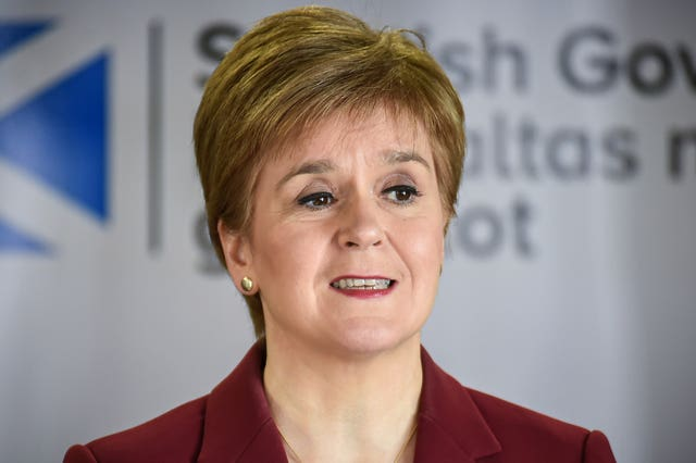Scotland's First Minister does not envisage mass gatherings taking place any time soon