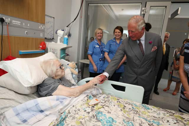 Charles visits Omagh Hospital