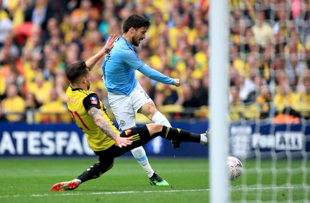 Silva scored the first of Manchester City's six goals as they beat Watford in the FA Cup final.