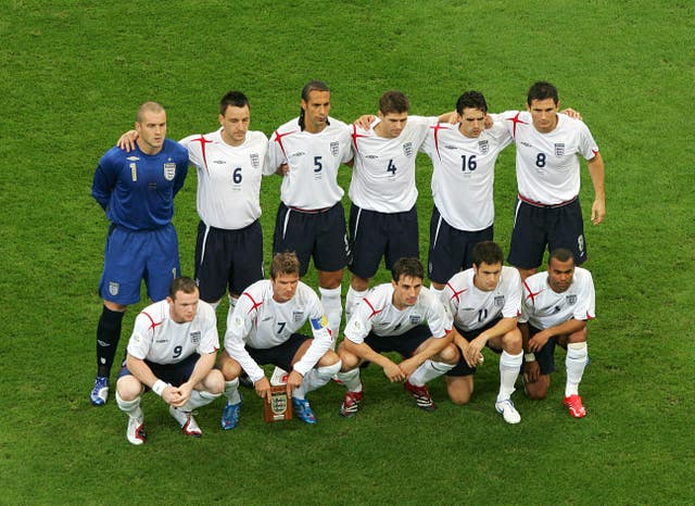 England at the 2006 World Cup, where they failed to fulfil their potential