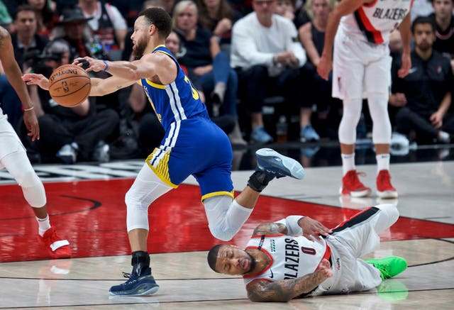 Portland Trail Blazers struggled to stop Stephen Curry as the Golden State Warriors closed in on another NBA Finals appearance