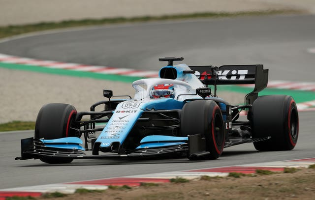George Russell on track for Williams after the British team missed the first two-and-a-half days because their car was not ready