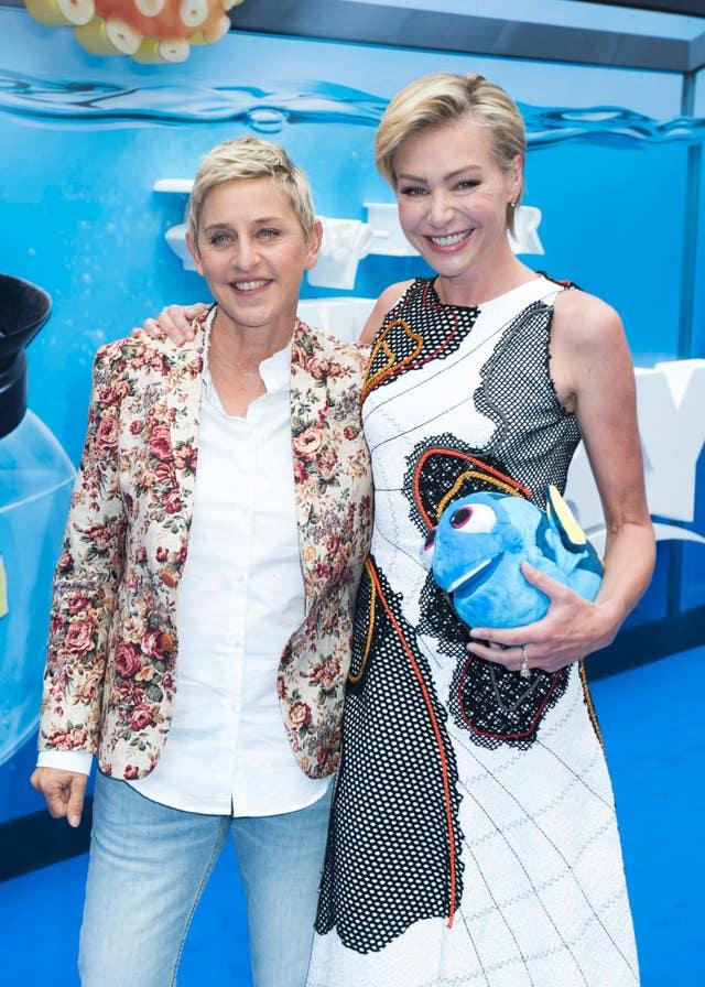Ellen DeGeneres and wife Portia de Rossi