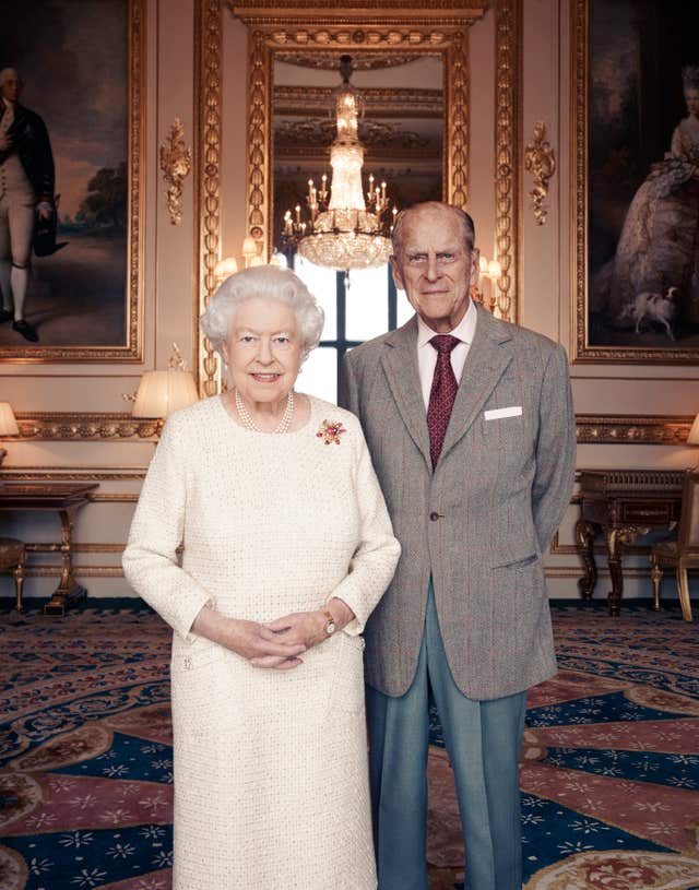 The Queen and Philip mark their platinum wedding anniversary at Windsor Castle