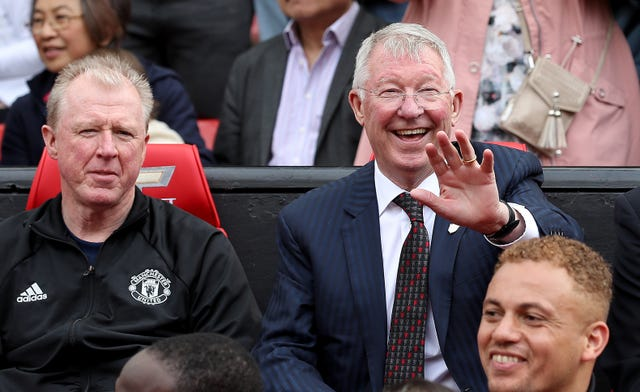Alex Ferguson was in the Manchester United dugout