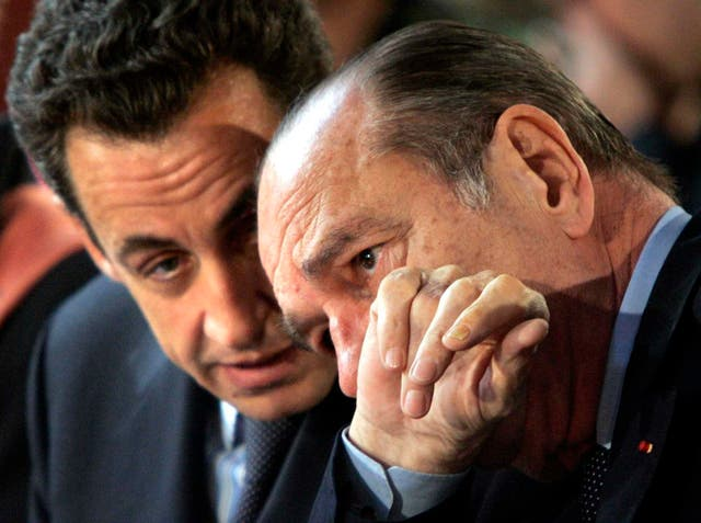 Jacques Chirac with Nicolas Sarkozy