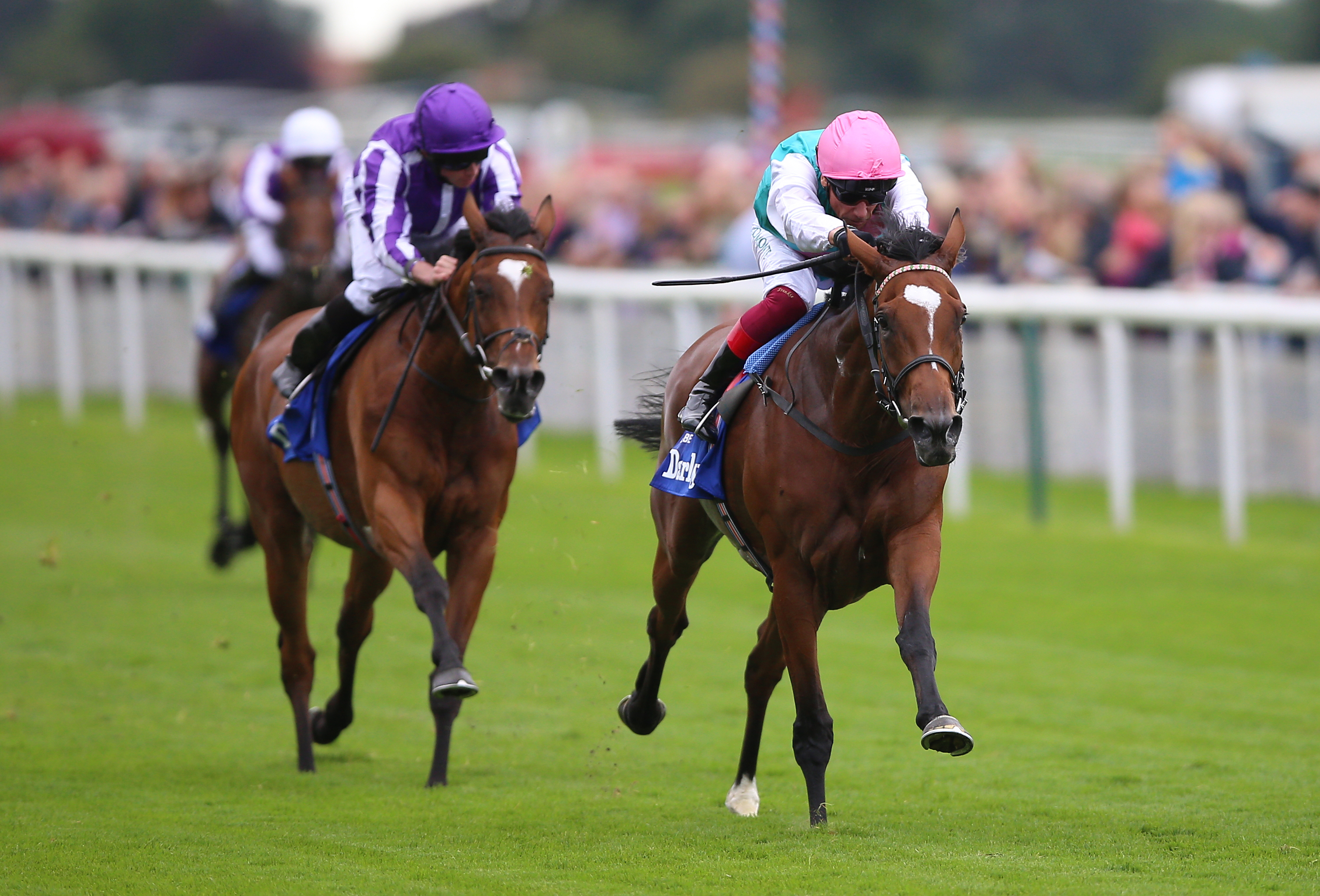 Magical (left) again had to settle for second to Enable, this time in the Yorkshire Oaks