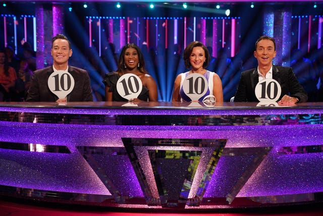 Shirley Ballas with fellow judges Craig Revel Horwood, Motsi Mabuse and Bruno Toniol