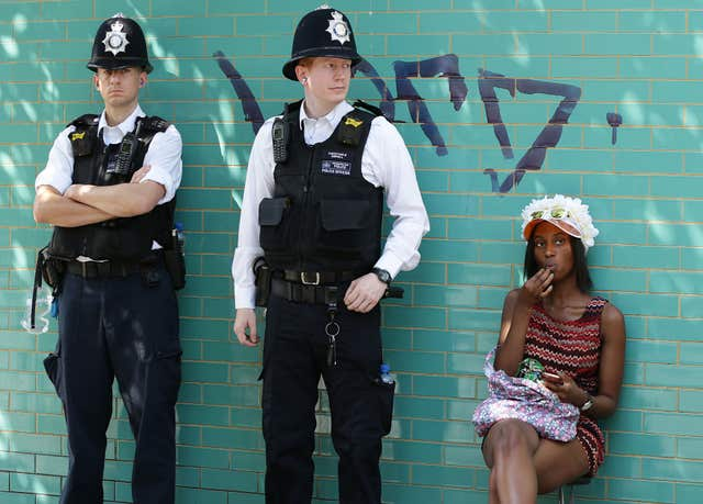 Police at Notting Hill Carnival in 2017