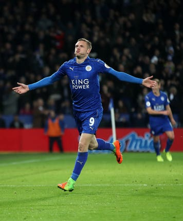 Leicester's Jamie Vardy has an excellent record against Liverpool