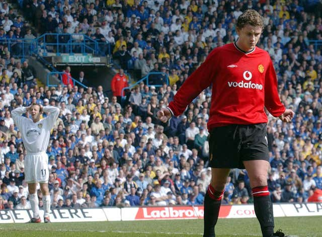 Ole Gunnar Solskjaer often made an impact in Manchester United's matches against Leeds