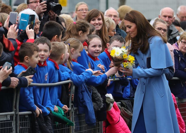 Kate during a walkabout in Ballymena