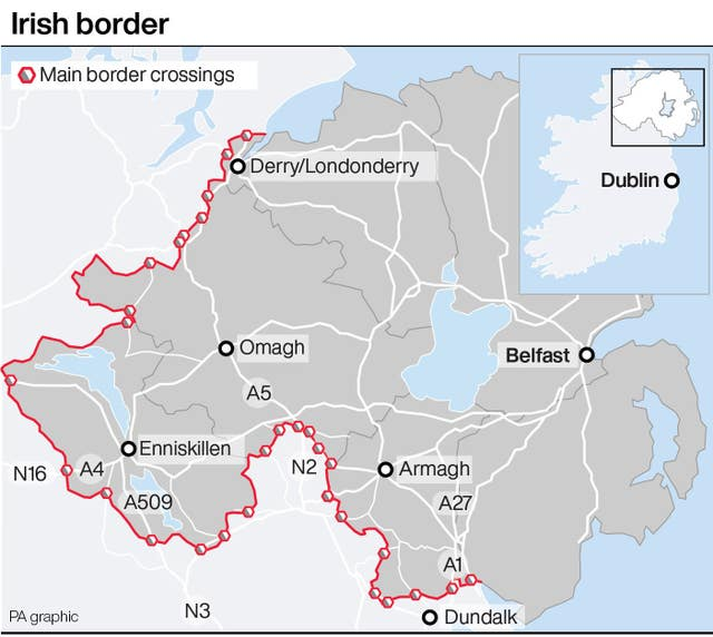 Main Irish border