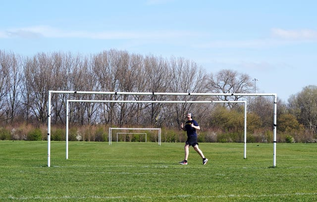 Football pitches are being used for solo purposes