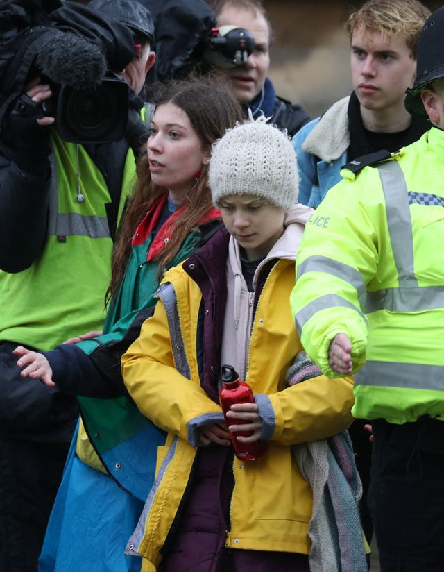 Environmental activist Greta Thunberg