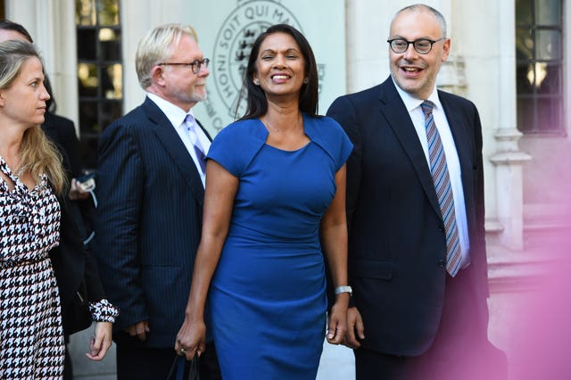 Gina Miller outside the Supreme Court in London