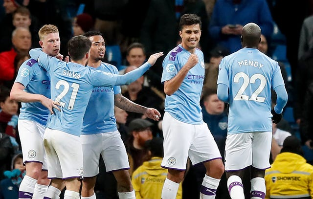 Rodri scored Manchester City's opening goal against West Ham