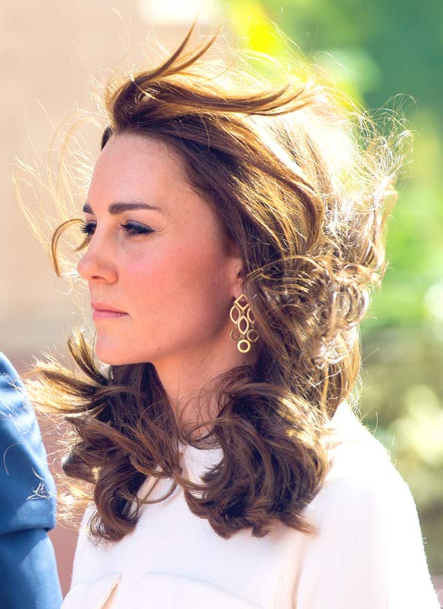 The Duchess of Cambridge's hair will be styled for all events by Amanda Cook Tucker from black-tie dinners to less informal engagements (Dominic Lipinski/PA)